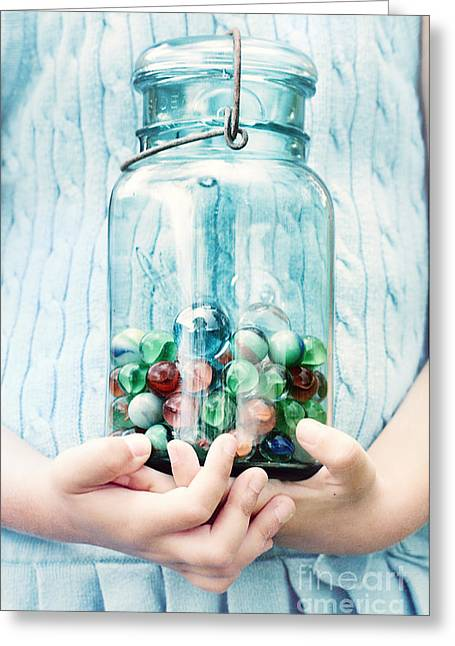 Mason Jars Greeting Cards - The Marble Collection Greeting Card by Stephanie Frey