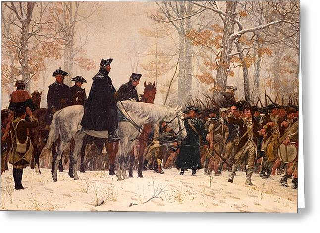 The March To Valley Forge Greeting Card by Mountain Dreams