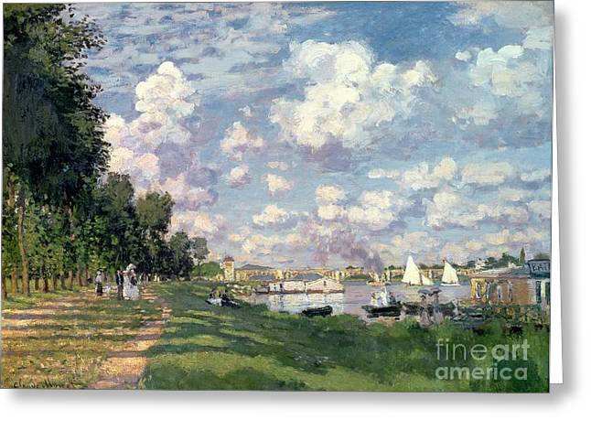 The Marina At Argenteuil Greeting Card by Claude Monet