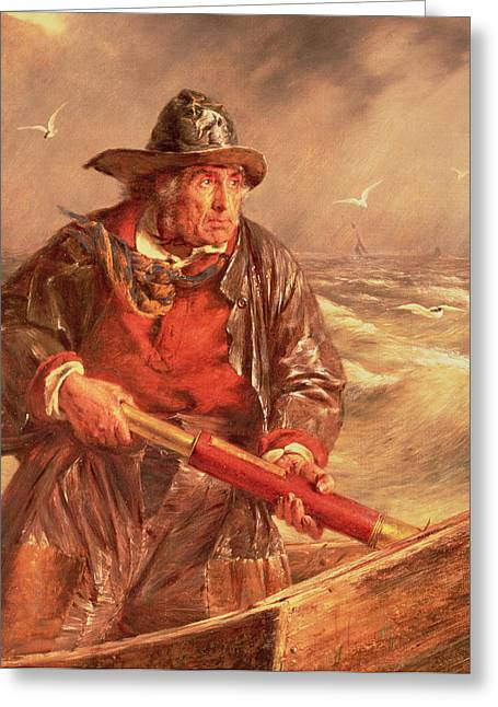 Rowers Paintings Greeting Cards - The Mariner Greeting Card by Erskine Nicol