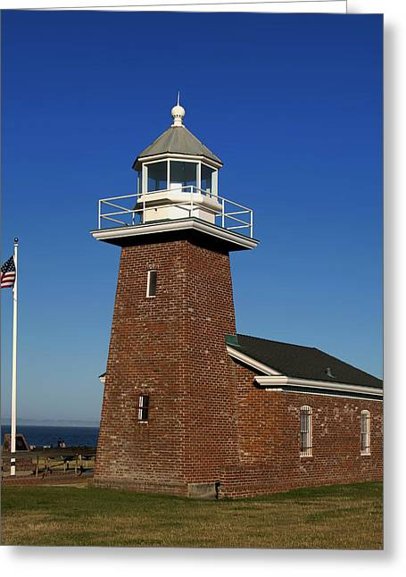 Santa Cruz Greeting Cards - The Mark Abbot Lighthouse And Surfer Museum - Santa Cruz California Greeting Card by Mountain Dreams