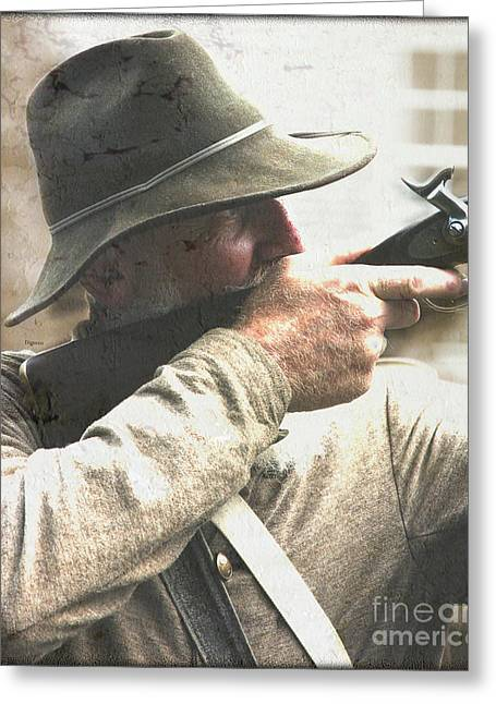 Civil Greeting Cards - The Marksman  Greeting Card by Steven  Digman
