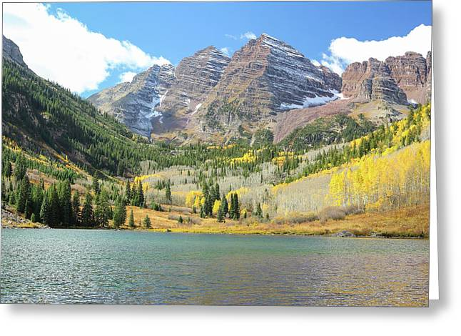 The Maroon Bells I Greeting Card by Eric Glaser
