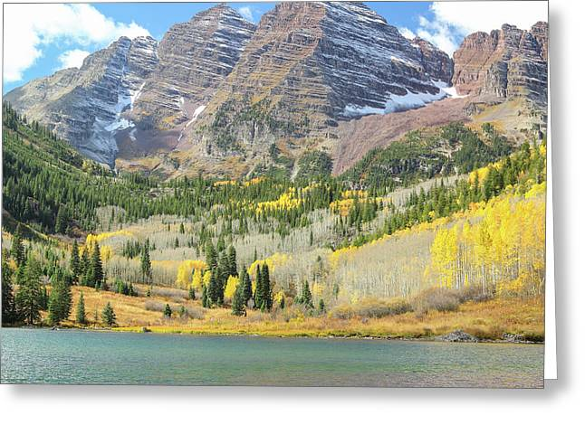 The Maroon Bells II Greeting Card by Eric Glaser