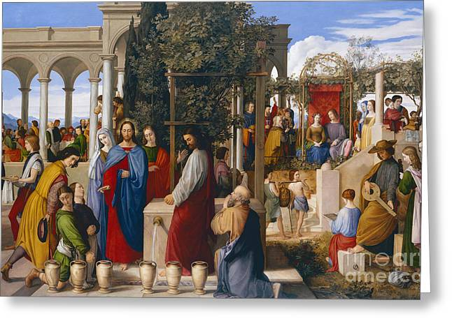 Testament Greeting Cards - The Marriage at Cana Greeting Card by Julius Schnorr von Carolsfeld