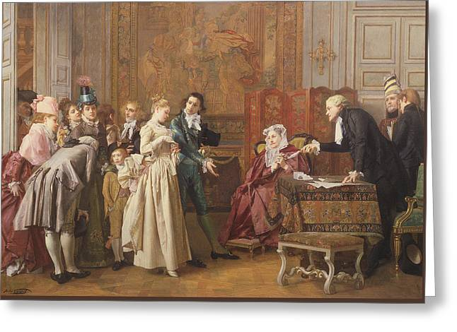 The Marriage  Greeting Card by Jules Adolphe Goupil