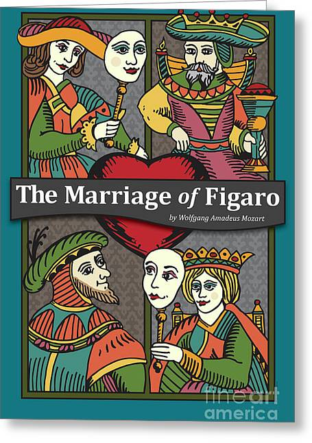 Mozart Greeting Cards - The Marriage of Figaro Greeting Card by Joe Barsin