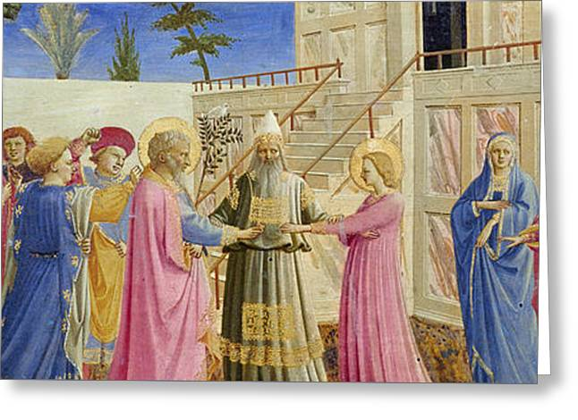 The Marriage Of The Virgin Greeting Card by Fra Angelico