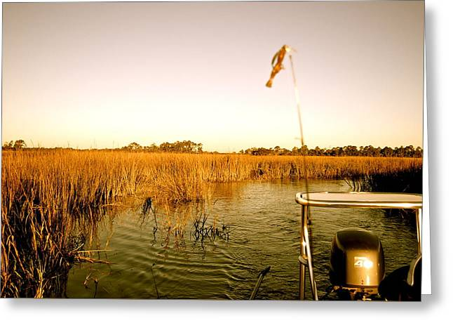 Fishing Boats Greeting Cards - The Marsh Greeting Card by Jay Talbot
