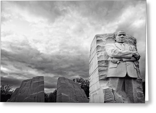 Civil Rights Greeting Cards - The Martin Luther King Jr Memorial At Dusk Greeting Card by Mountain Dreams