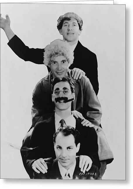 The Marx Brothers  Greeting Card by Georgia Fowler