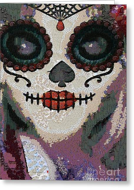 Apparel Greeting Cards - The Mask 2015 Fragmented In The Mix Greeting Card by Catherine Lott