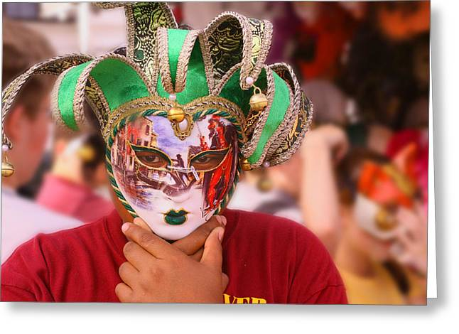 Paint Photograph Greeting Cards - The Mask Greeting Card by Greg Sharpe