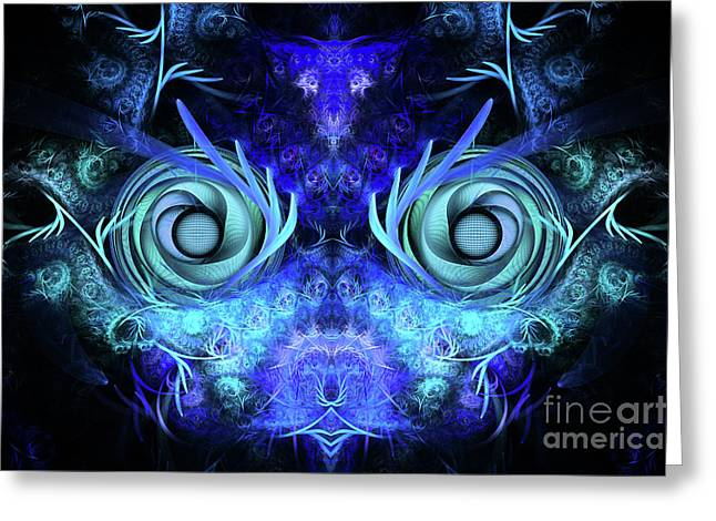 The Mask Greeting Card by John Edwards