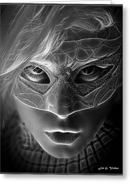 The Mask Of The Spider Woman Greeting Card by Jon Volden