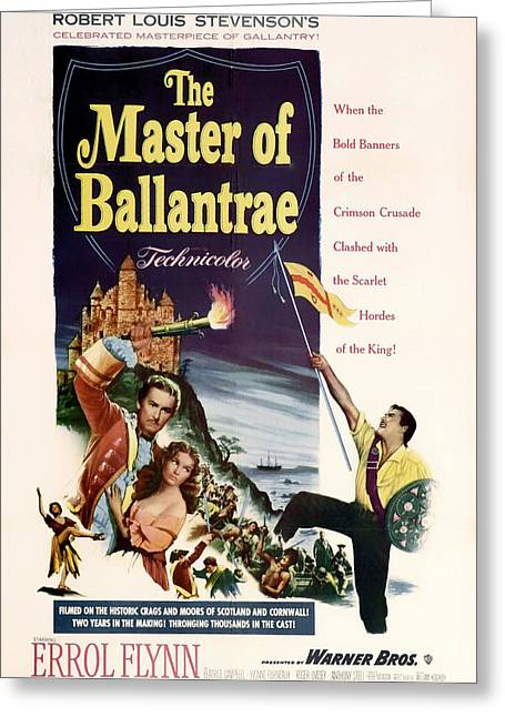 1953 Movies Greeting Cards - The Master of the Ballantrae 1953 Greeting Card by Mountain Dreams