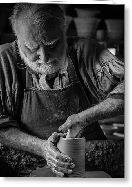 The Master Potter Greeting Card by Alisha Clarke