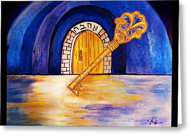 The Masters Key Greeting Card by Jennifer Page
