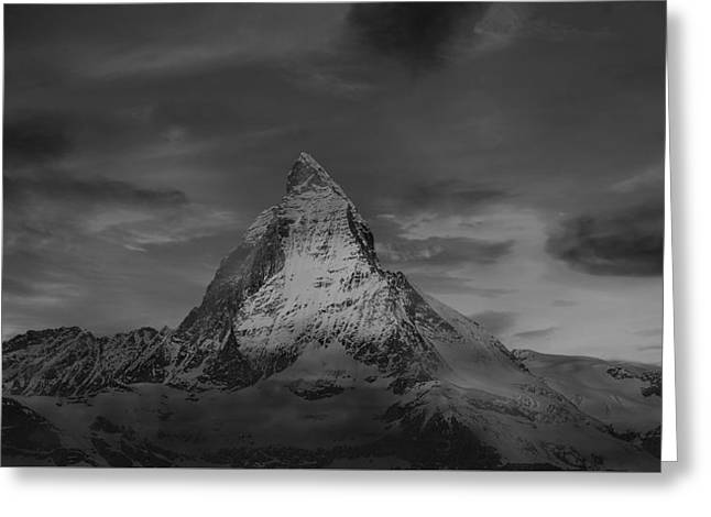 Swiss Photographs Greeting Cards - The Matterhorn At Sunset Greeting Card by Klausdie