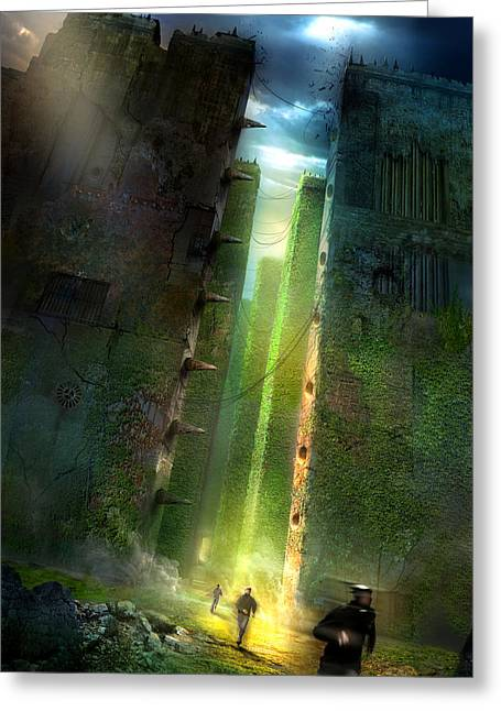 Illustration Greeting Cards - The Maze Runner Greeting Card by Philip Straub