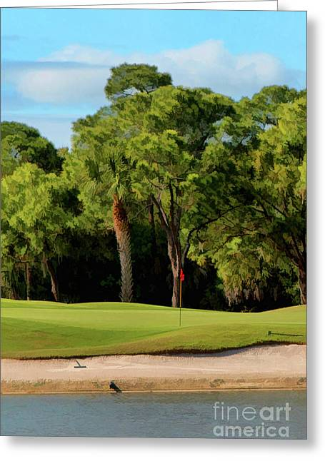 Golf Photos Greeting Cards - The Meadows Golf Club 12th Greeting Card by Tom Prendergast