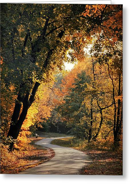 The Meandering Path Greeting Card by Jessica Jenney