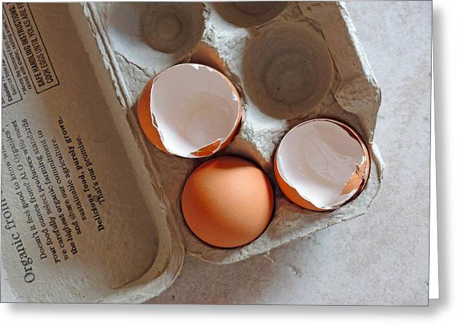 Layer Greeting Cards - The Meaning of Eggshells Greeting Card by Lynda Lehmann