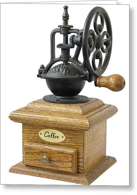 Manual Greeting Cards - The mechanical coffee grinder  Greeting Card by Aleksandr Volkov