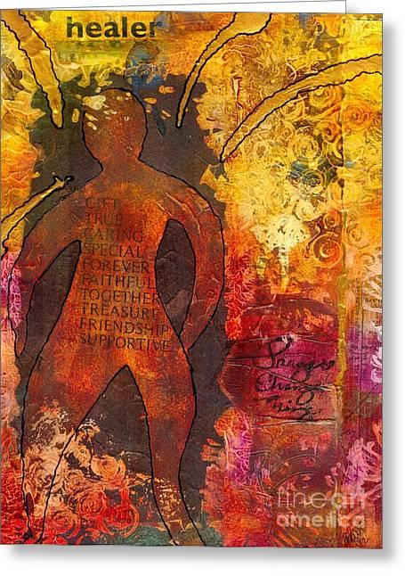 Survivor Art Greeting Cards - The Medicine Man Greeting Card by Angela L Walker