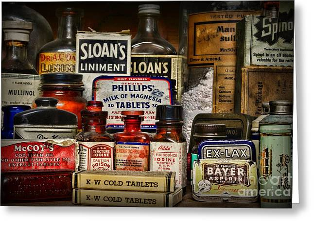 Md Greeting Cards - The Medicine Shelf Greeting Card by Paul Ward