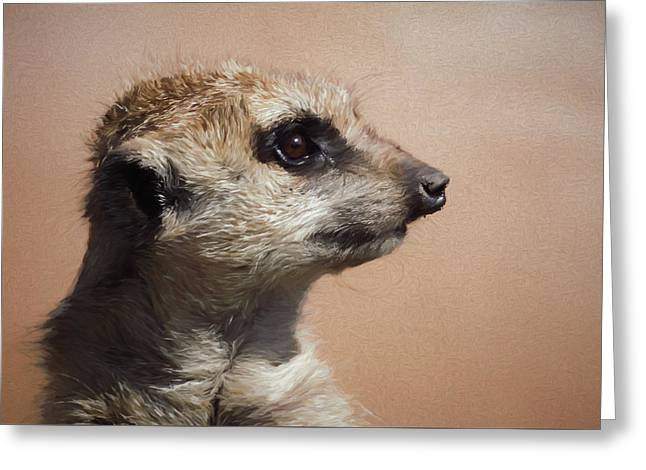 The Meerkat Da Greeting Card by Ernie Echols