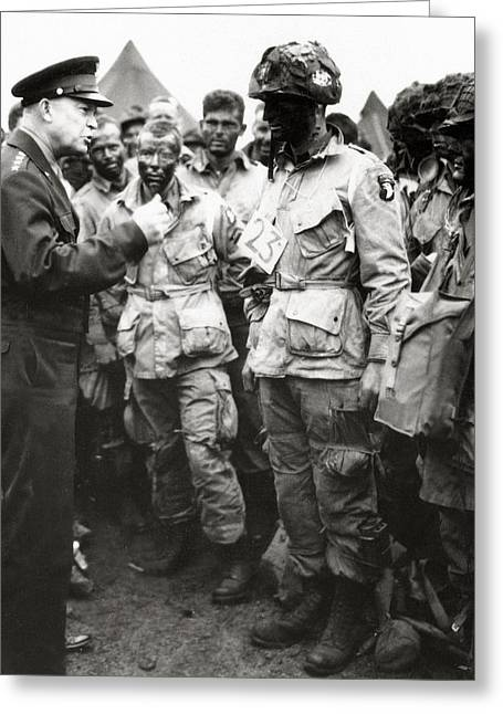The Men Of Company E Of The 502nd Parachute Infantry Regiment Before D Day Greeting Card by American School