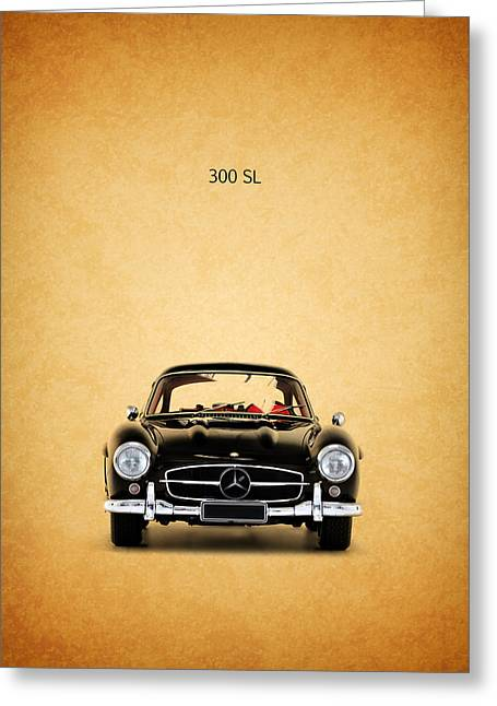 Car Greeting Cards - The Mercedes 300 SL Greeting Card by Mark Rogan
