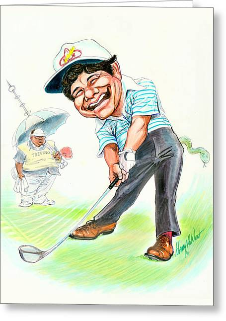 Golf Drawings Greeting Cards - The Merry Mex Greeting Card by Harry West