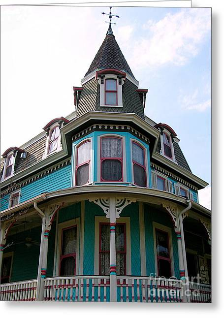 Houses Bed And Breakfast Greeting Cards - The Merry Widow Greeting Card by Colleen Kammerer