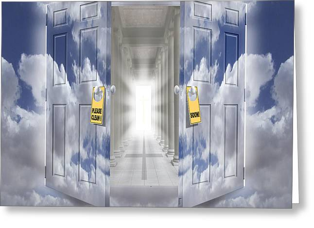 Doorway Digital Greeting Cards - The Message Greeting Card by Mike McGlothlen