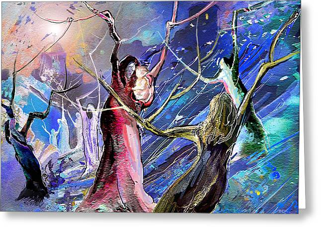 Bible Mixed Media Greeting Cards - The Messiah is born Greeting Card by Miki De Goodaboom