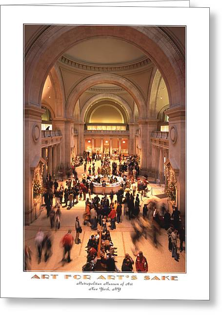 People Digital Greeting Cards - The Metropolitan Museum of Art Greeting Card by Mike McGlothlen