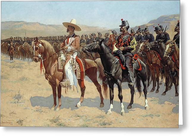 The Mexican Major Greeting Card by Frederic Remington