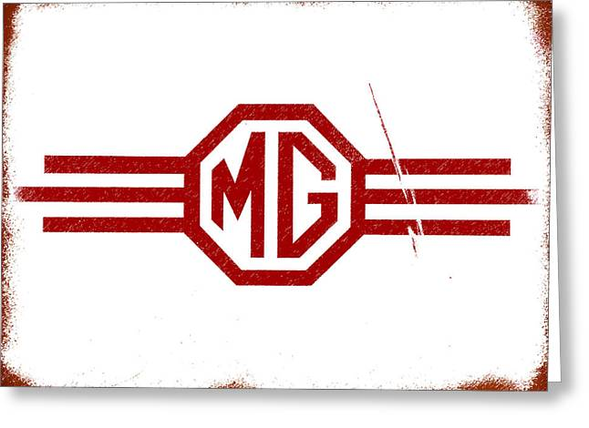 Vintage Mg Greeting Cards - The MG Sign Greeting Card by Mark Rogan