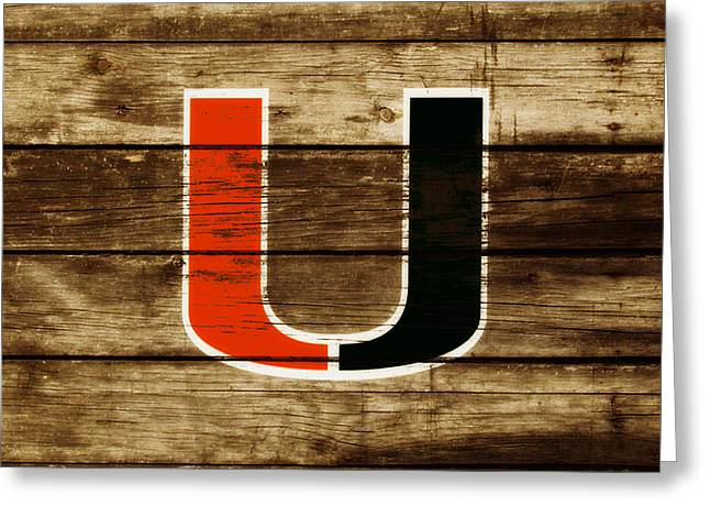 The Miami Hurricanes       Greeting Card by Brian Reaves