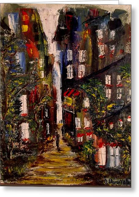 The Houses Greeting Cards - The middays  twilight Greeting Card by Politov Valeryi