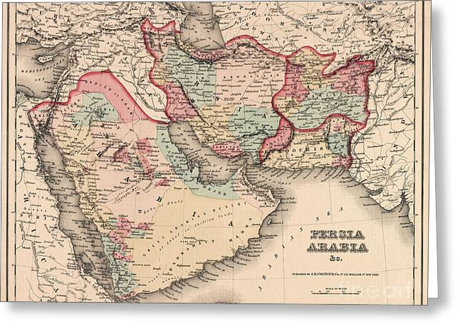 The Middle East In The Mid 19th Century Greeting Card by English School