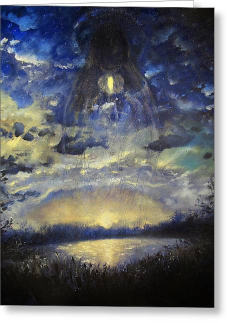 Will Power Paintings Greeting Cards - The midnight sun Greeting Card by Aleksei Gorbenko