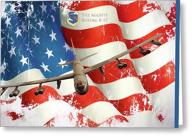 The Mighty B-52 Greeting Card by Peter Chilelli