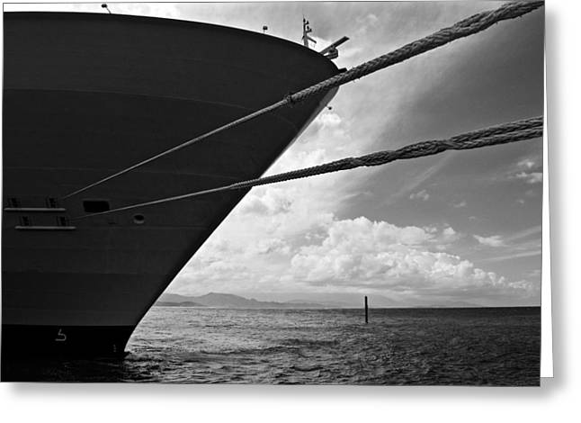 Steering Greeting Cards - The mighty hull - Allure Of The Seas Greeting Card by Colin Perkins