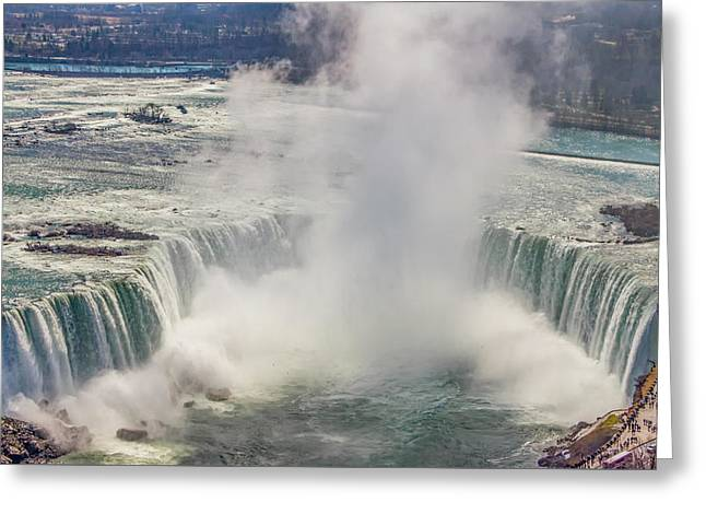 The Mighty Niagara Falls Greeting Card by Bill Cannon