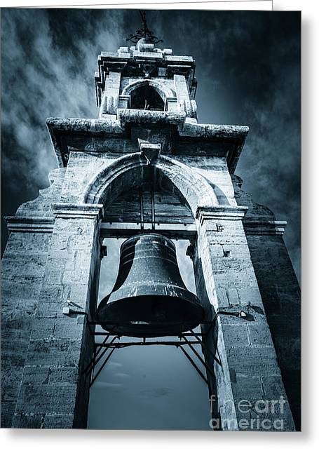 People Greeting Cards - The Miguelete Bell Tower Valencia Spain Greeting Card by Peter Noyce