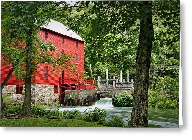 The Mill At Alley Spring Greeting Card by Cricket Hackmann