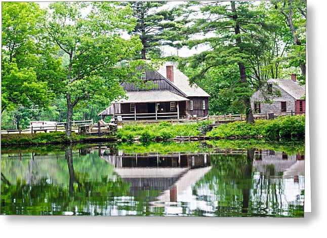 Grist Mill Greeting Cards - The Mill By The Stream Greeting Card by Douglas Miller